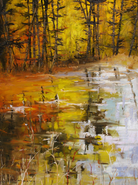 Fine Art by Tim Howe, Contemporary Landscape Artist - Golden Reflections